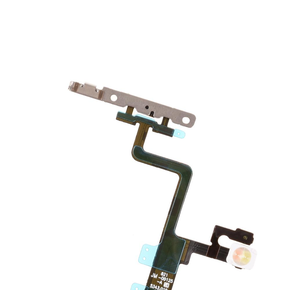 For Apple iPhone 6s Power Switch Volume Flex Cable with Metal Plate